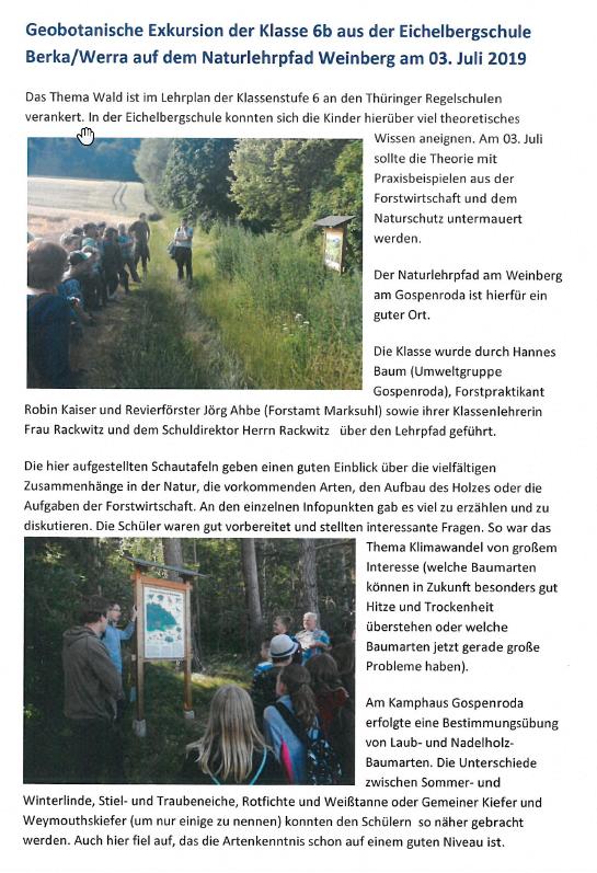Geobotanische Exkursion Eichelbergschule 1