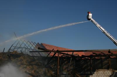 Scheunenbrand in Ockensen