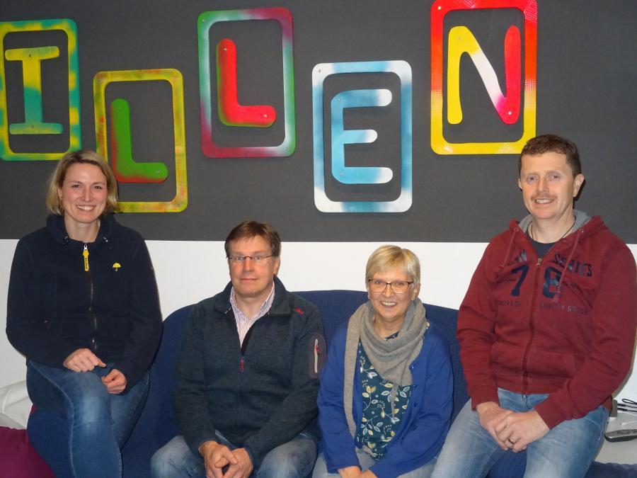 Aktueller Vorstand: Carina Brendel - Käse, Christian Thömen, Marion Hägermann, Dirk Hopmann (von links)