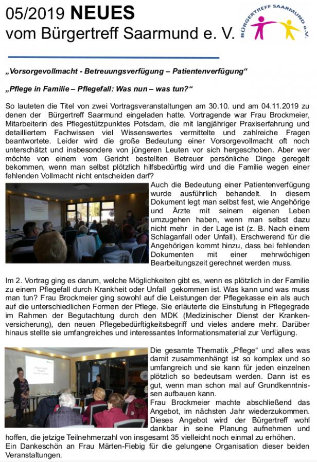 Newsletter 05/19
