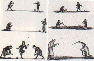 Kegelspiele 13.Jahrhundert