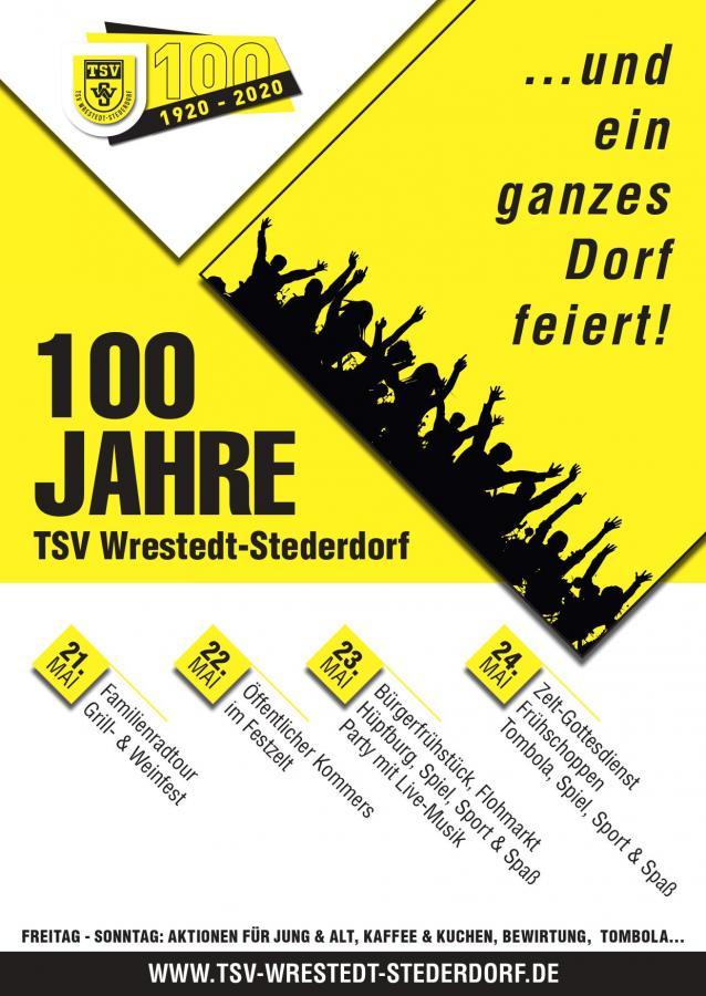 Programm der Feiertage für unser 100-jähriges Jubiläum