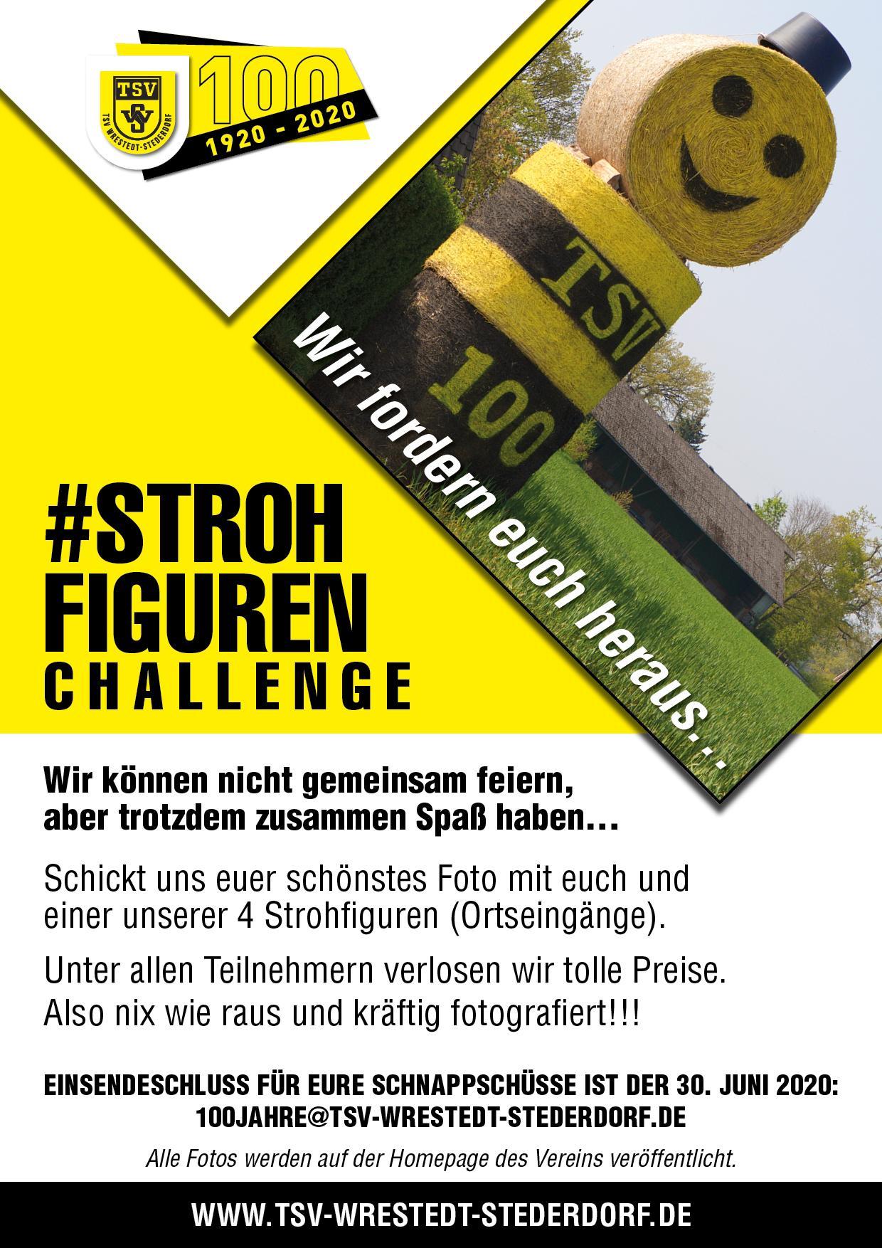 Strohfiguren Challenge Herausforderung
