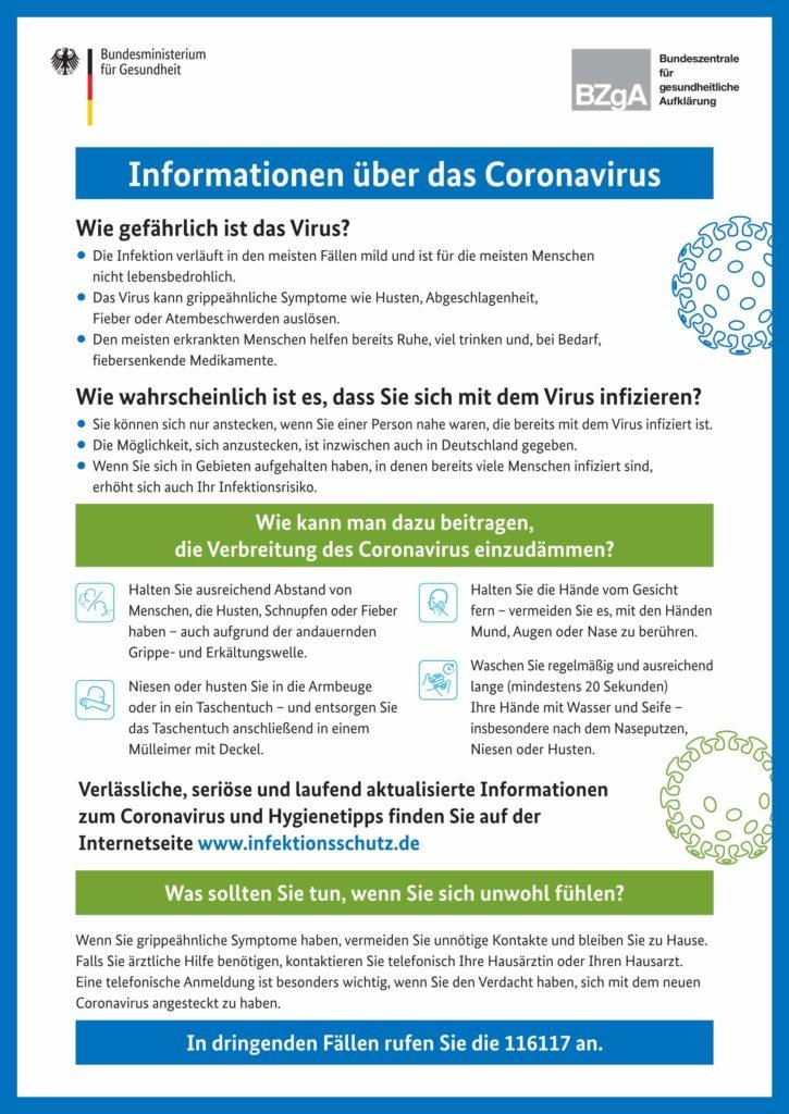 Informationen zu Coronavirus