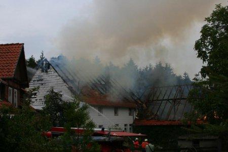 Scheunenbrand in Schevelstein