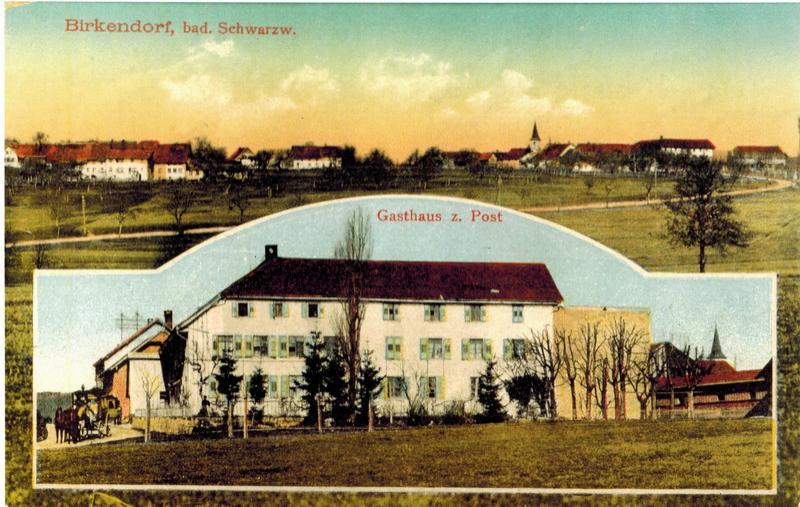 92-Post und Dorf um 1910 vor Brand