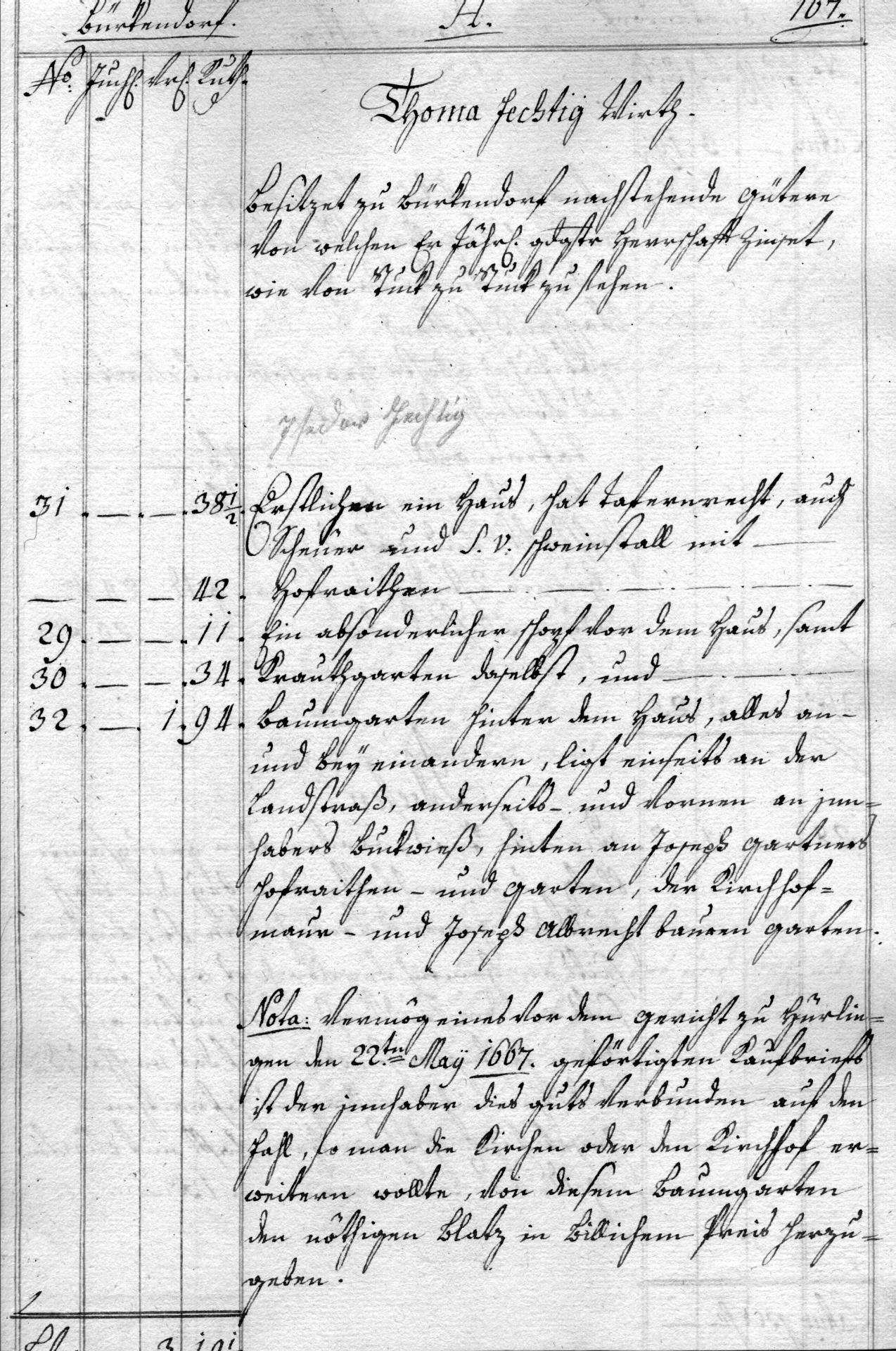 Hirschen im Berain 1775