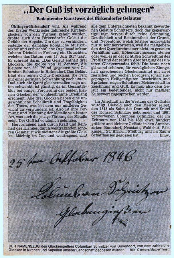 Gutachten 1917 Guss  gelungen - MW-24-7-82