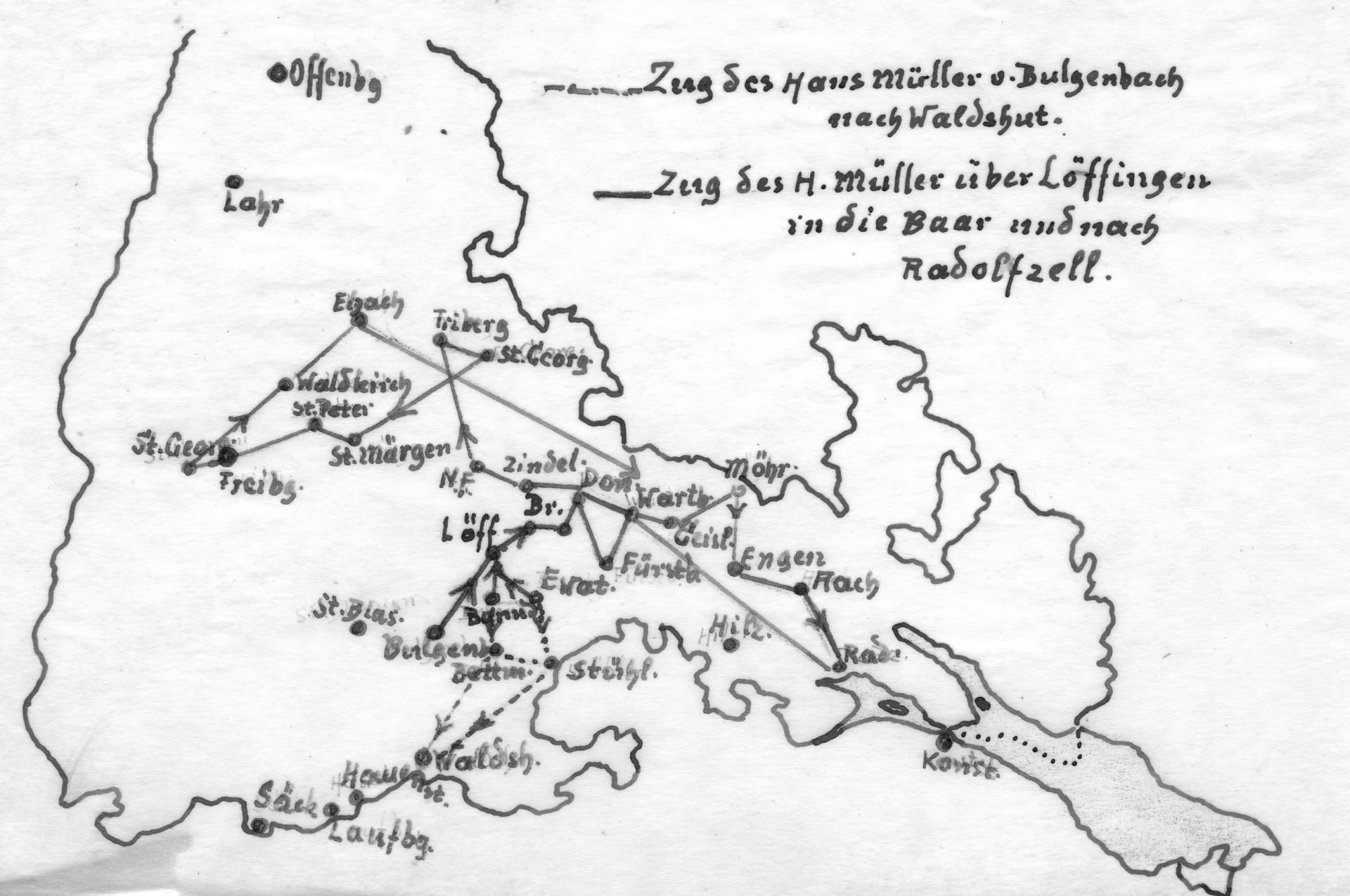 Zug des Hans Müller