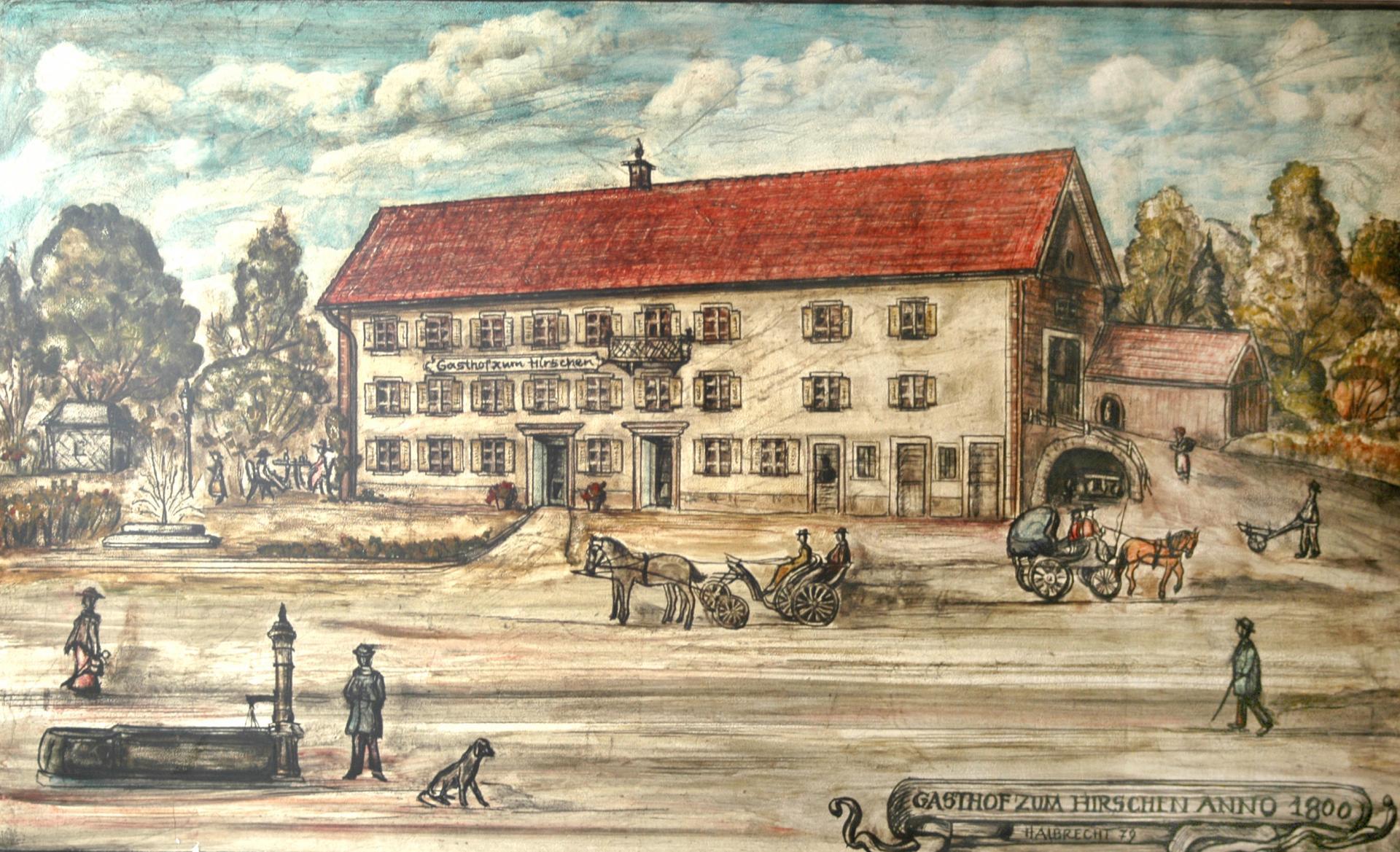Hirschen Gemälde 1800
