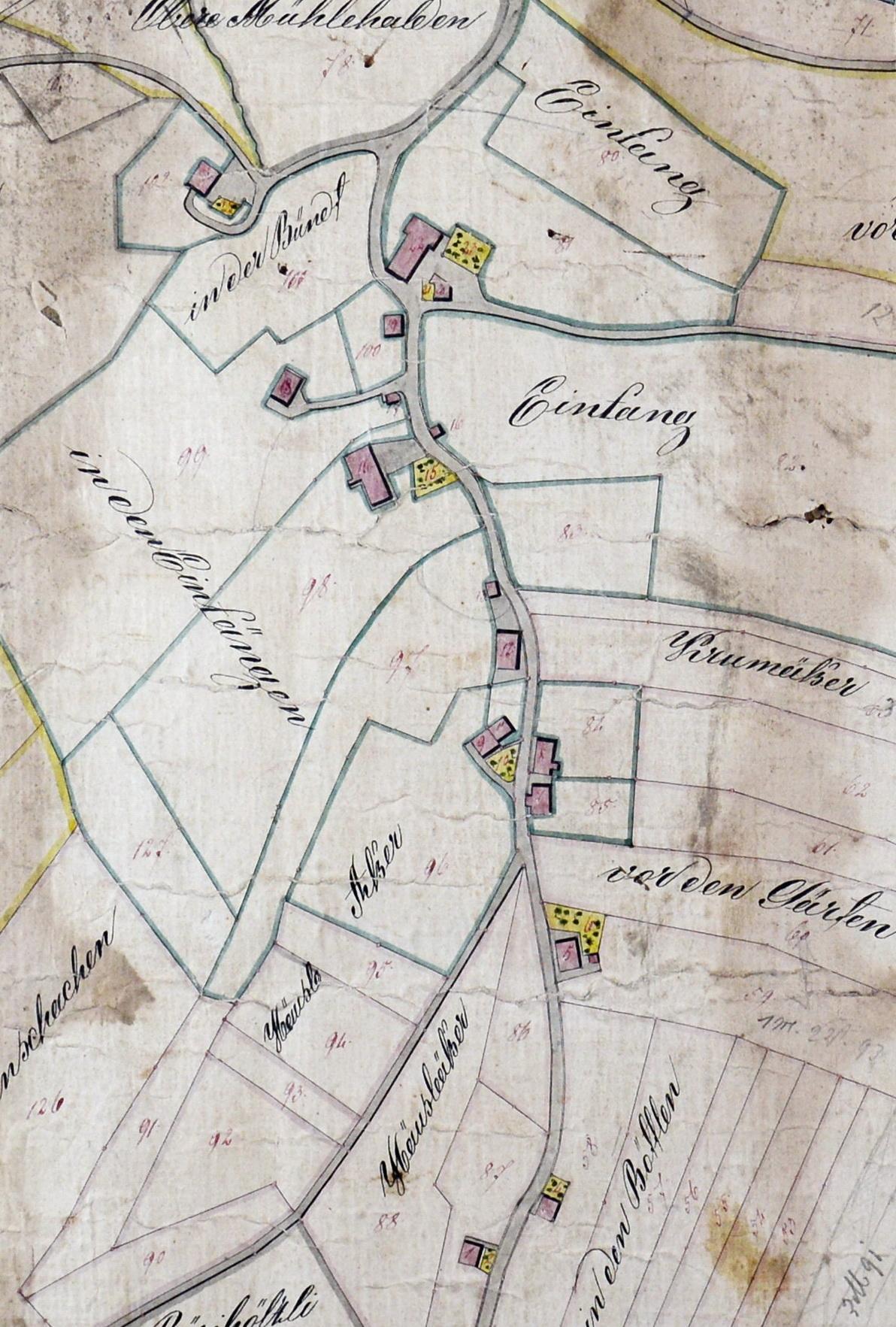 karte igelschlatt 1847
