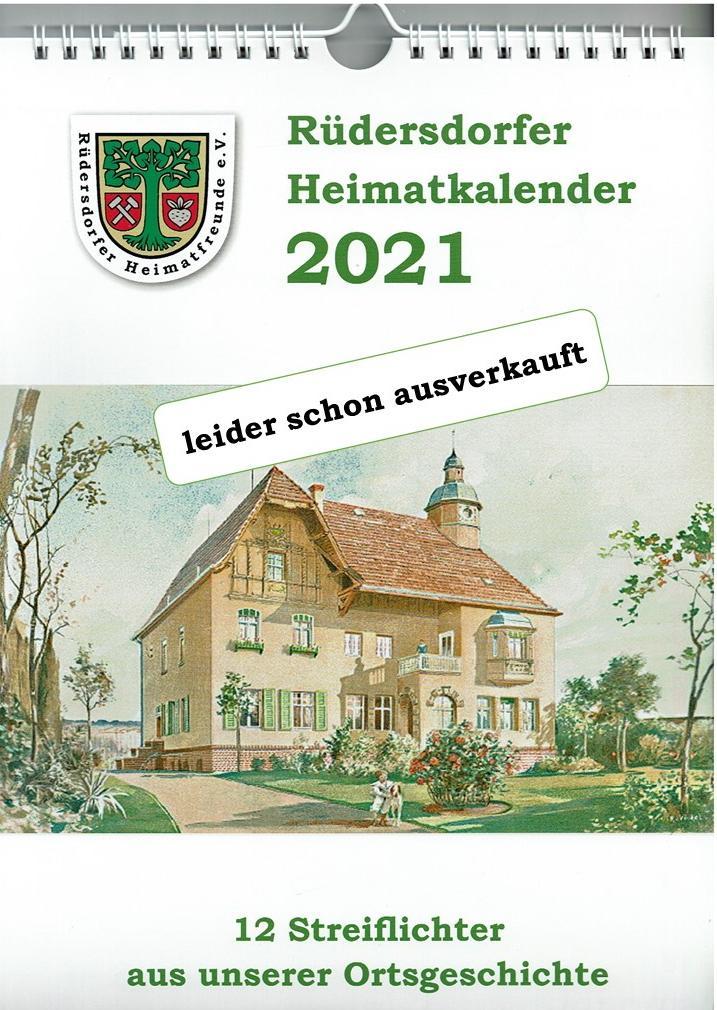 Kalender 2021 ausverkauft