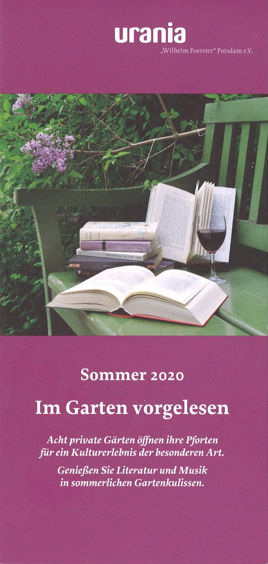 Im Garten vorgelesen 2020