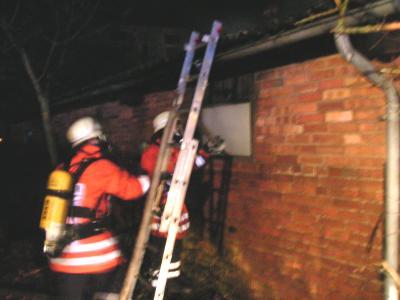 Schuppenbrand in Fischbeck