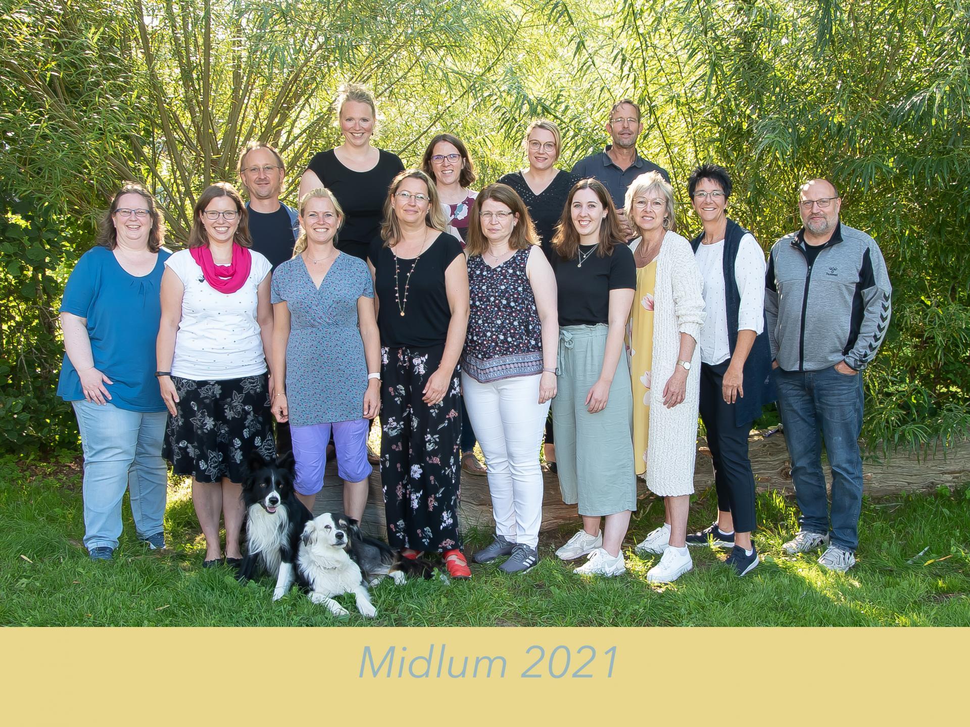 Lehrerkollegium der Grundschule Midlum 2021