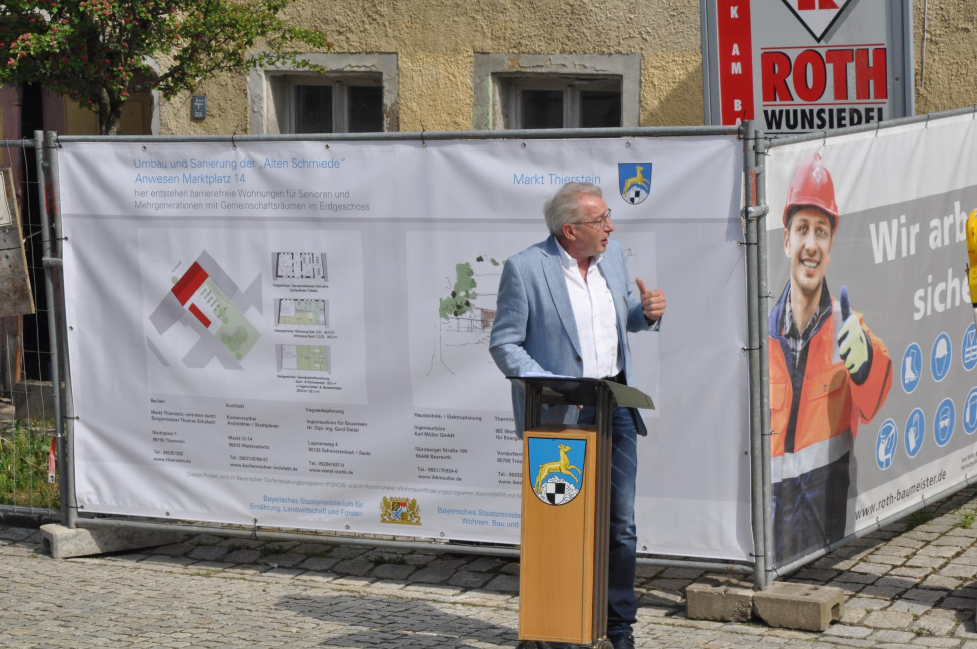 Ansprache Herr Winkler Chef des Amtes für ländliche Entwicklung Oberfranken