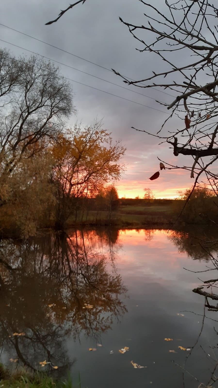 'Sonnenuntergang am Gemeindeteich