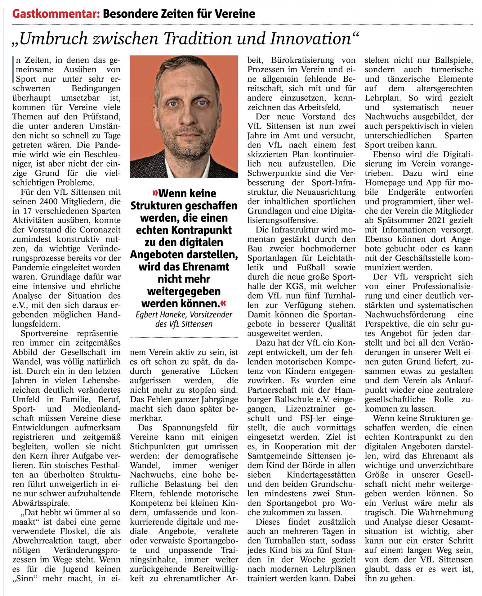 Sonntagsjournal Zevener Zeitung 30.5.2021