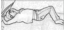 Drehung der Wirbelsäule