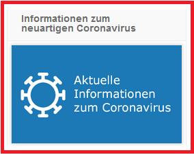 Information zum neuartigen Coronavirus
