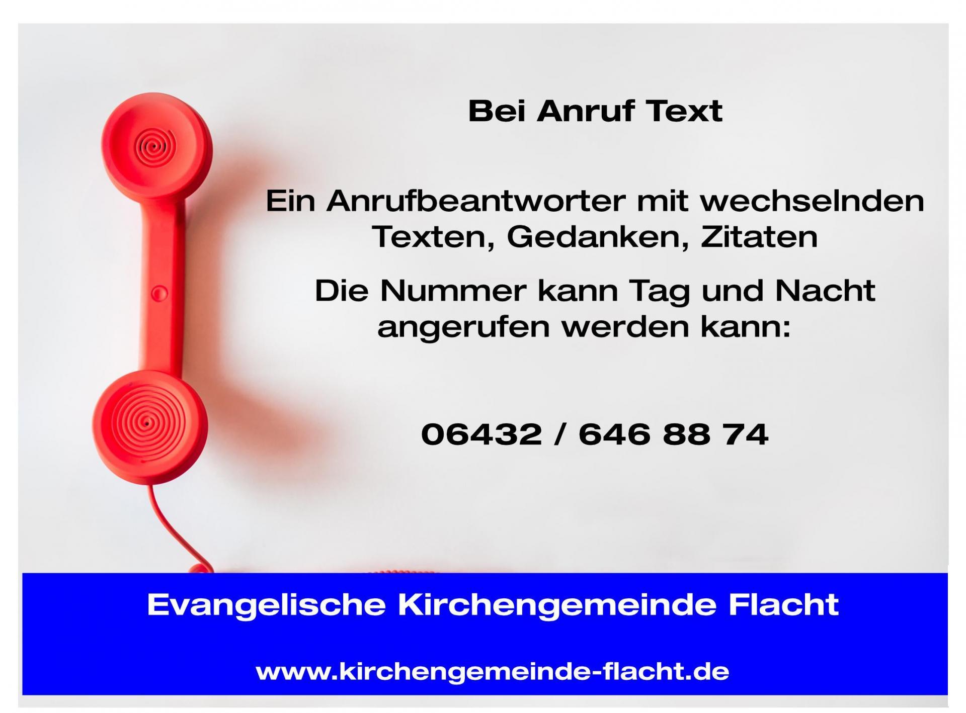 Bei Anruf Text