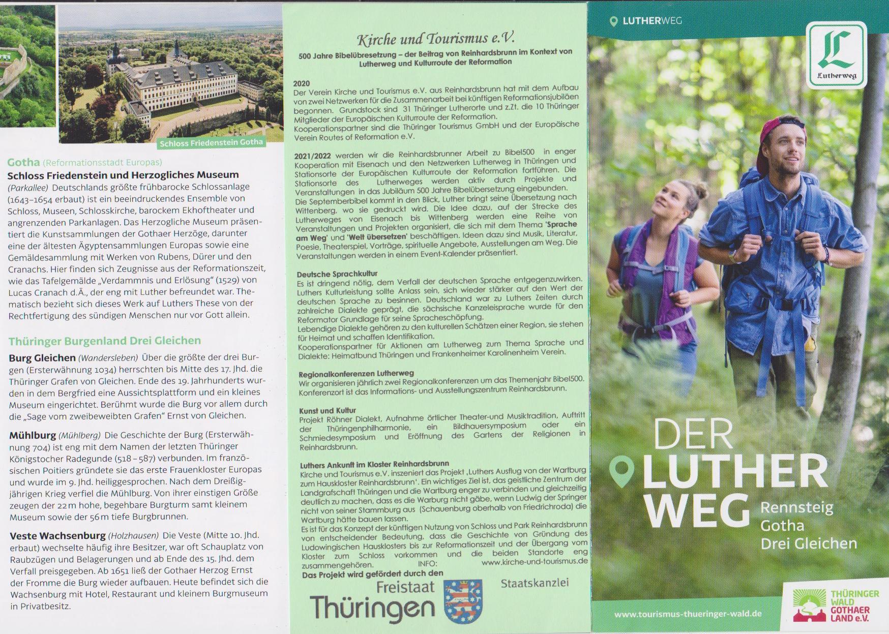 Lutherweg Rennsteig Gotha Drei Gleichen