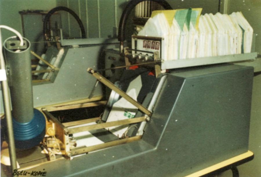 Maschinen d. Postkontrolle
