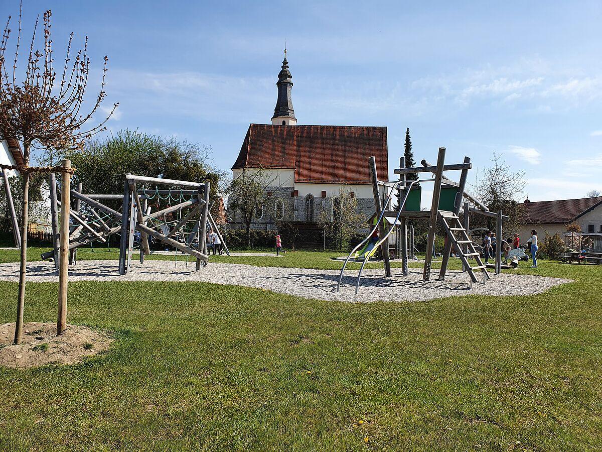 Der Spielplatz im Prienbacher Ortskern