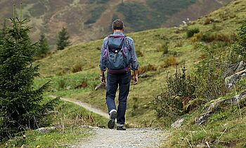 Bild von einem Wanderer