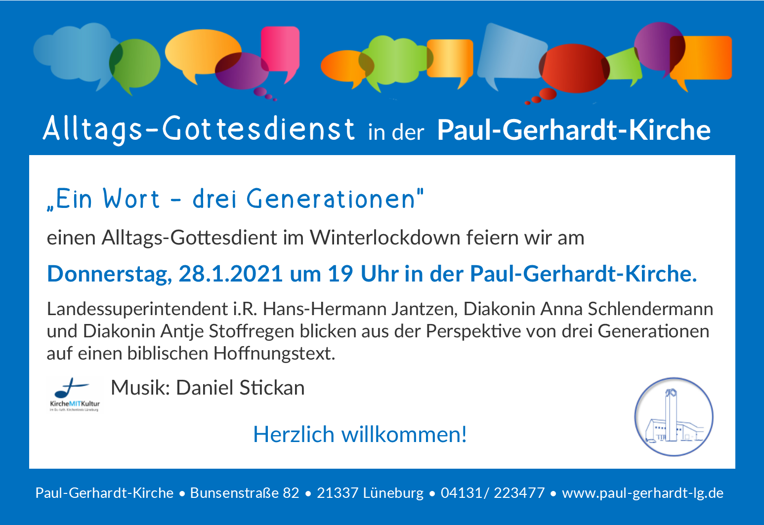Alltagsgottesdienst 1 Wort 3 generationen