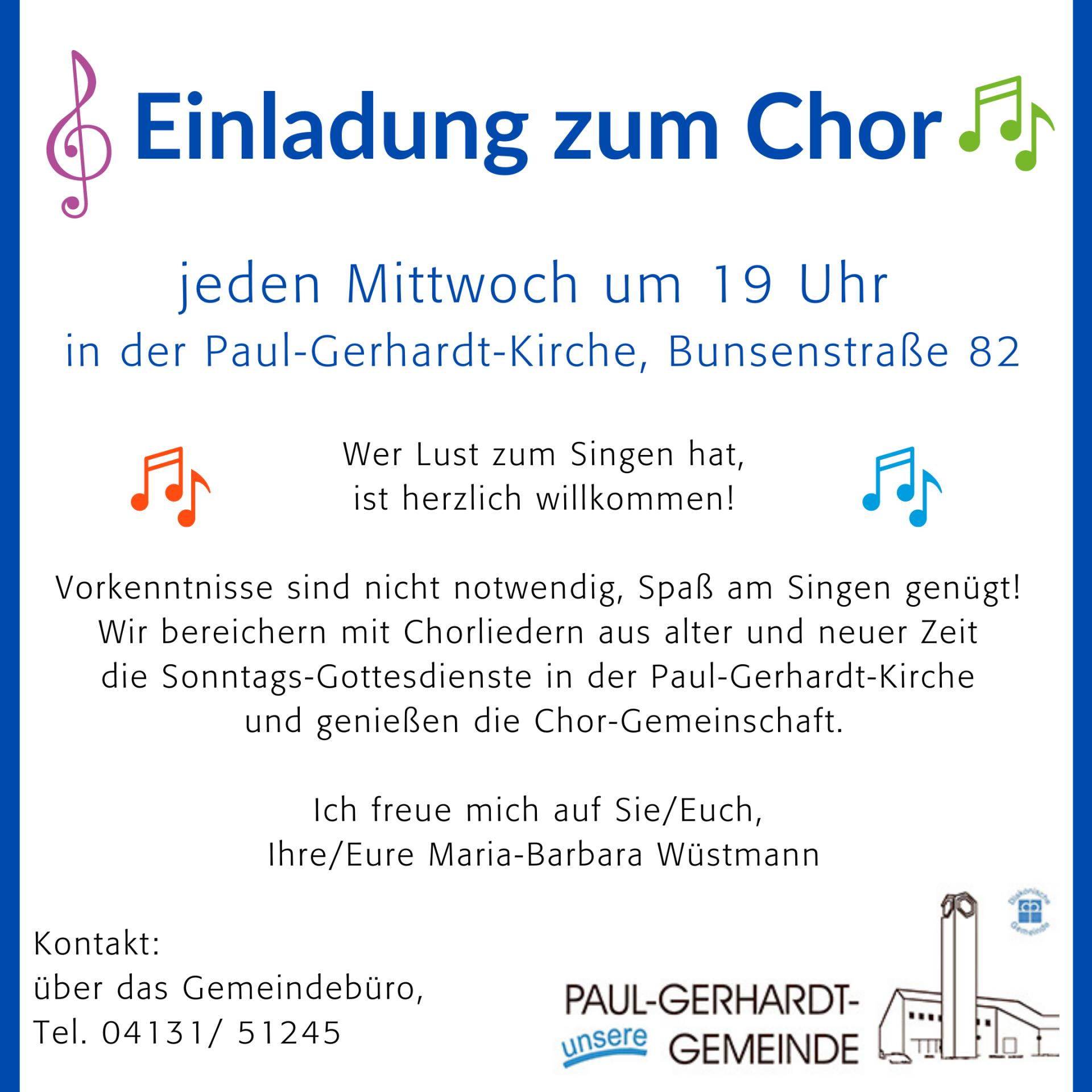 Plakat Chor PG