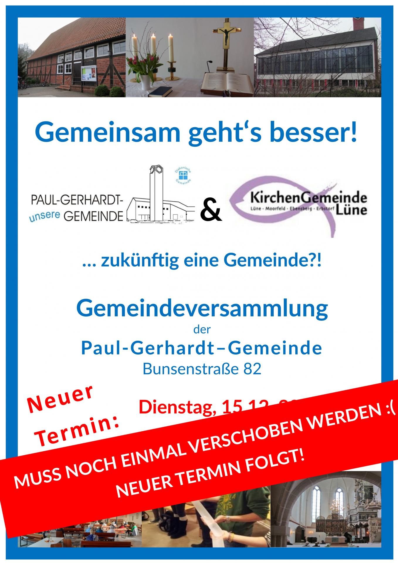 Gemeindeversammlung abgesagt 15.12