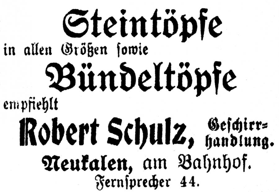 Annonce von 1918