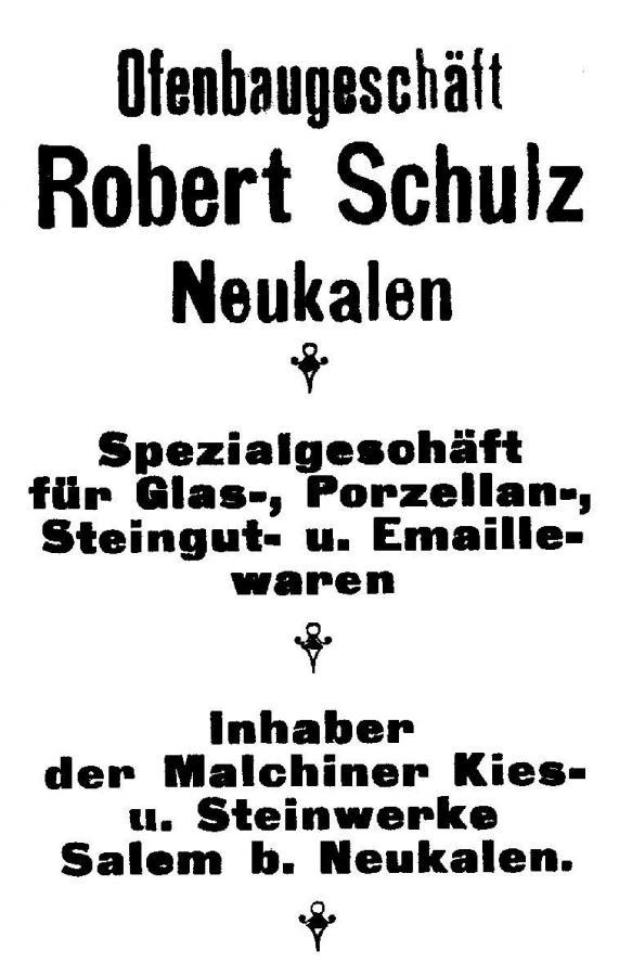 Annonce von 1926