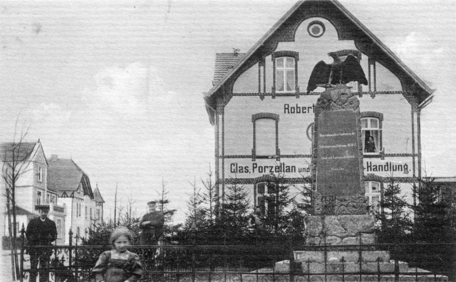 Ansichtskarte (um 1925) mit dem Haus von Robert Schulz