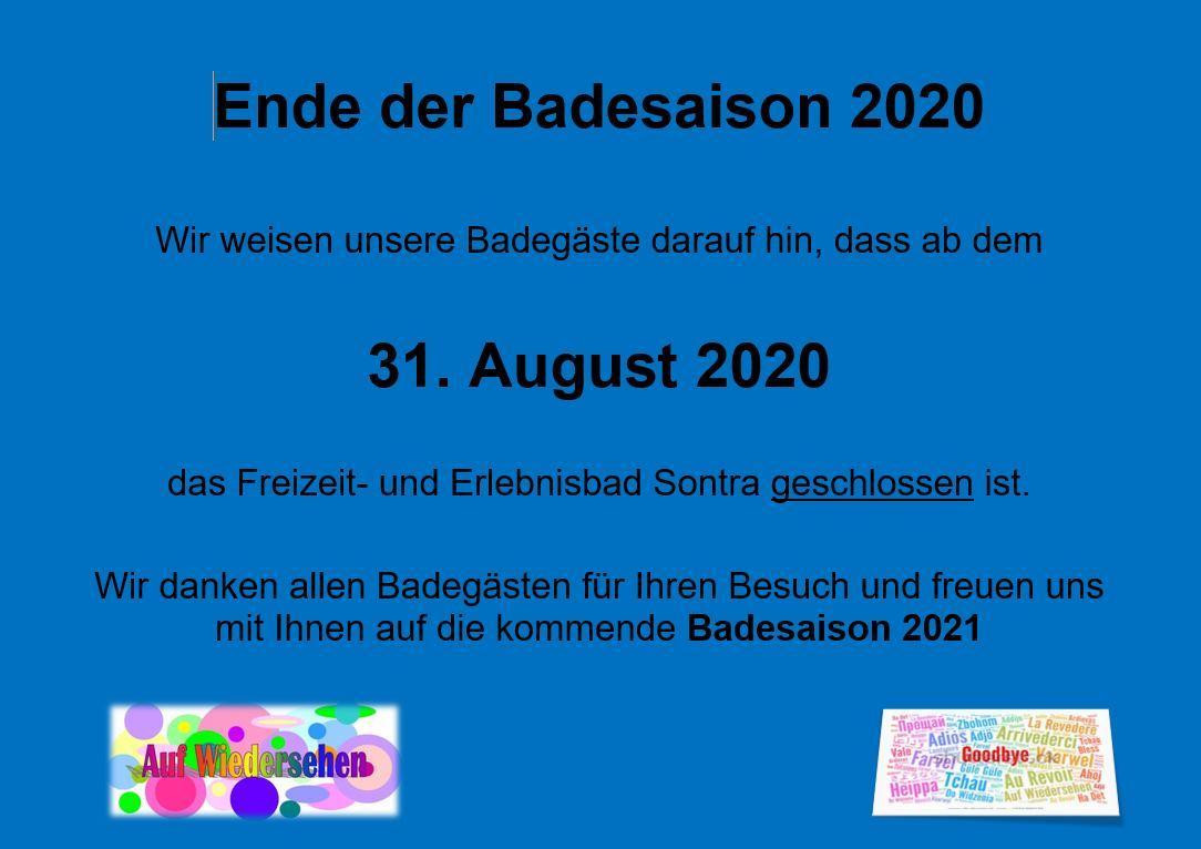 Ende Badesaison 2020