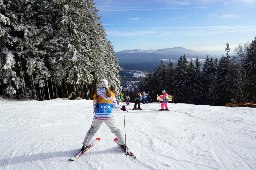 Skifahren am Spicak
