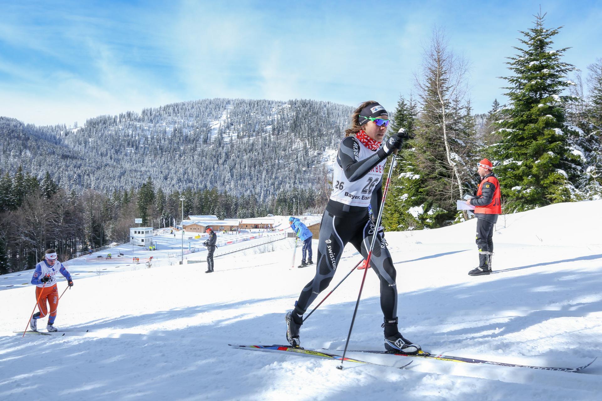 Langläufer beim FIS Continental CUP in Bayerisch Eisenstein