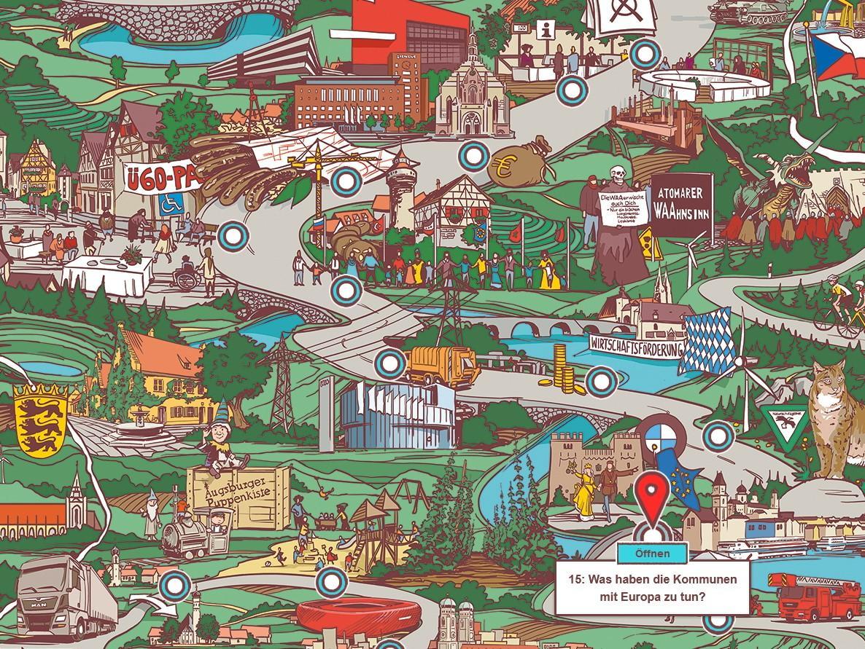Interaktive Lernkarte Kommunalpolitik