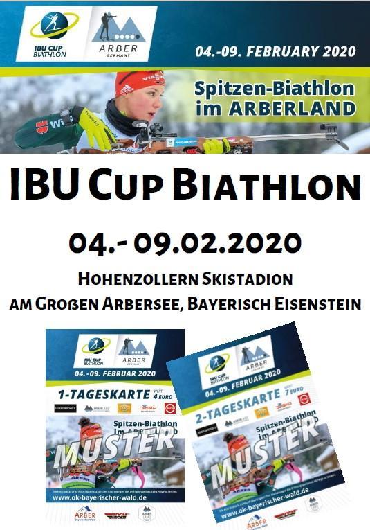 Plakat IBU Cup Biathlon 2020