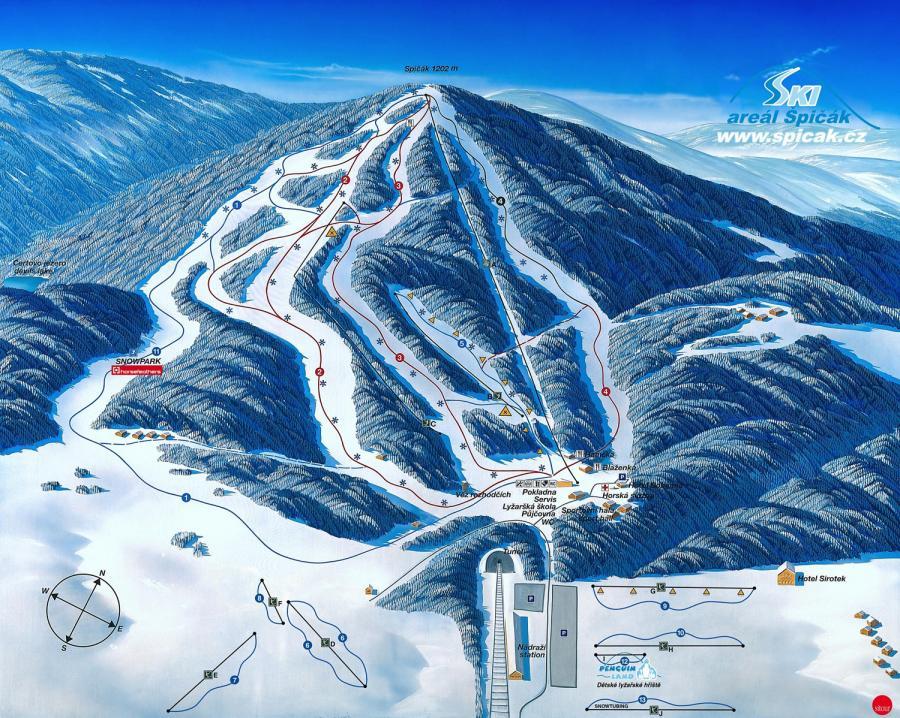 Pistenplan Skigebiet Spicak