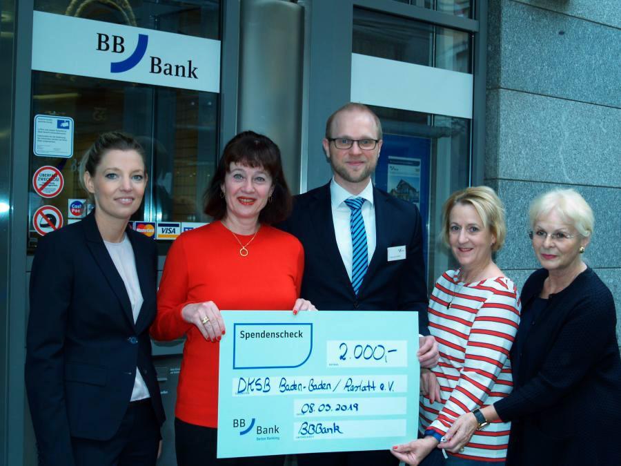 Spendenübergabe BB-Bank