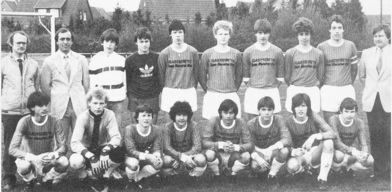 Kreismeister und Pokalsieger der B-Jugend 1983
