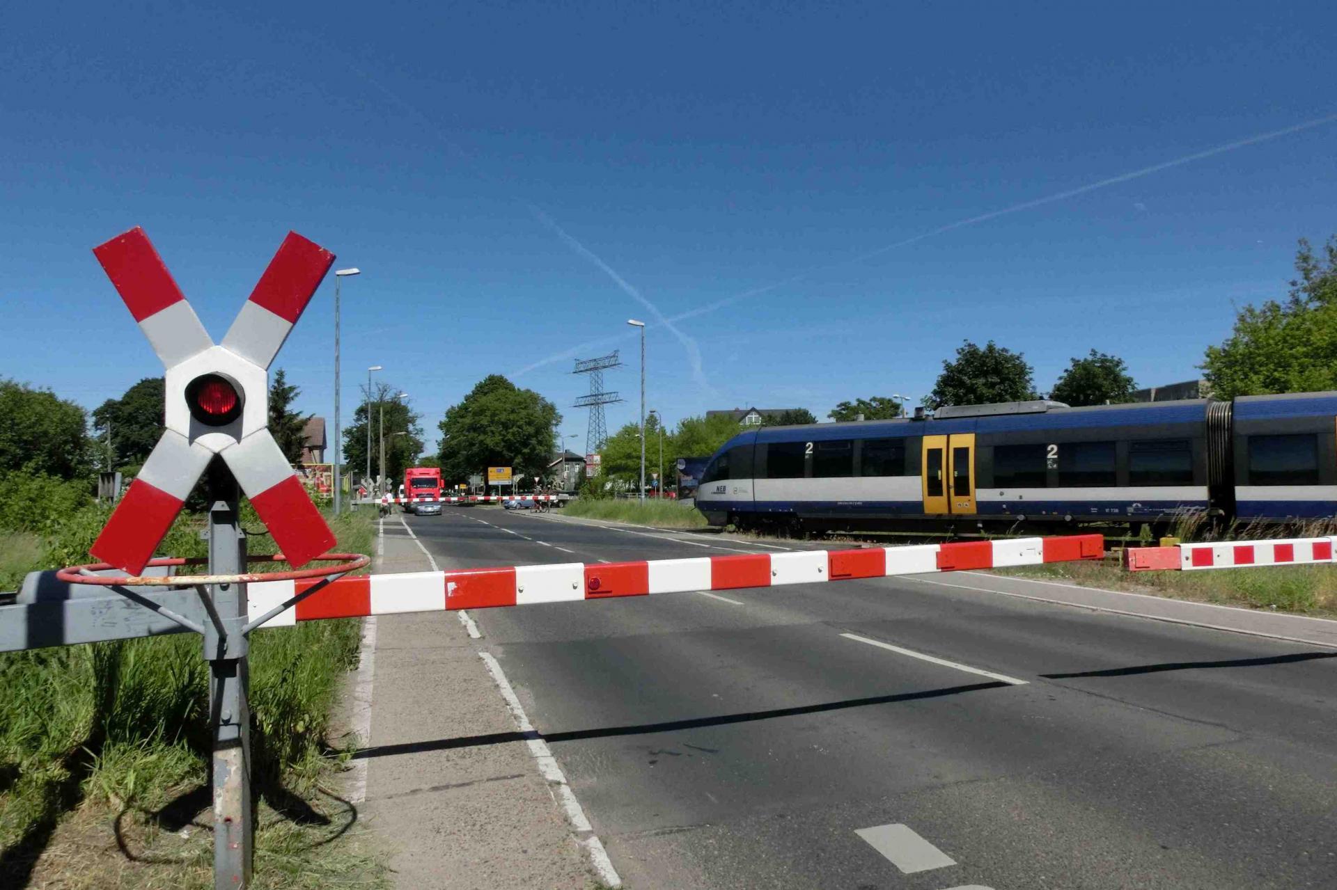 Bahnübergang in Ahrensfelde