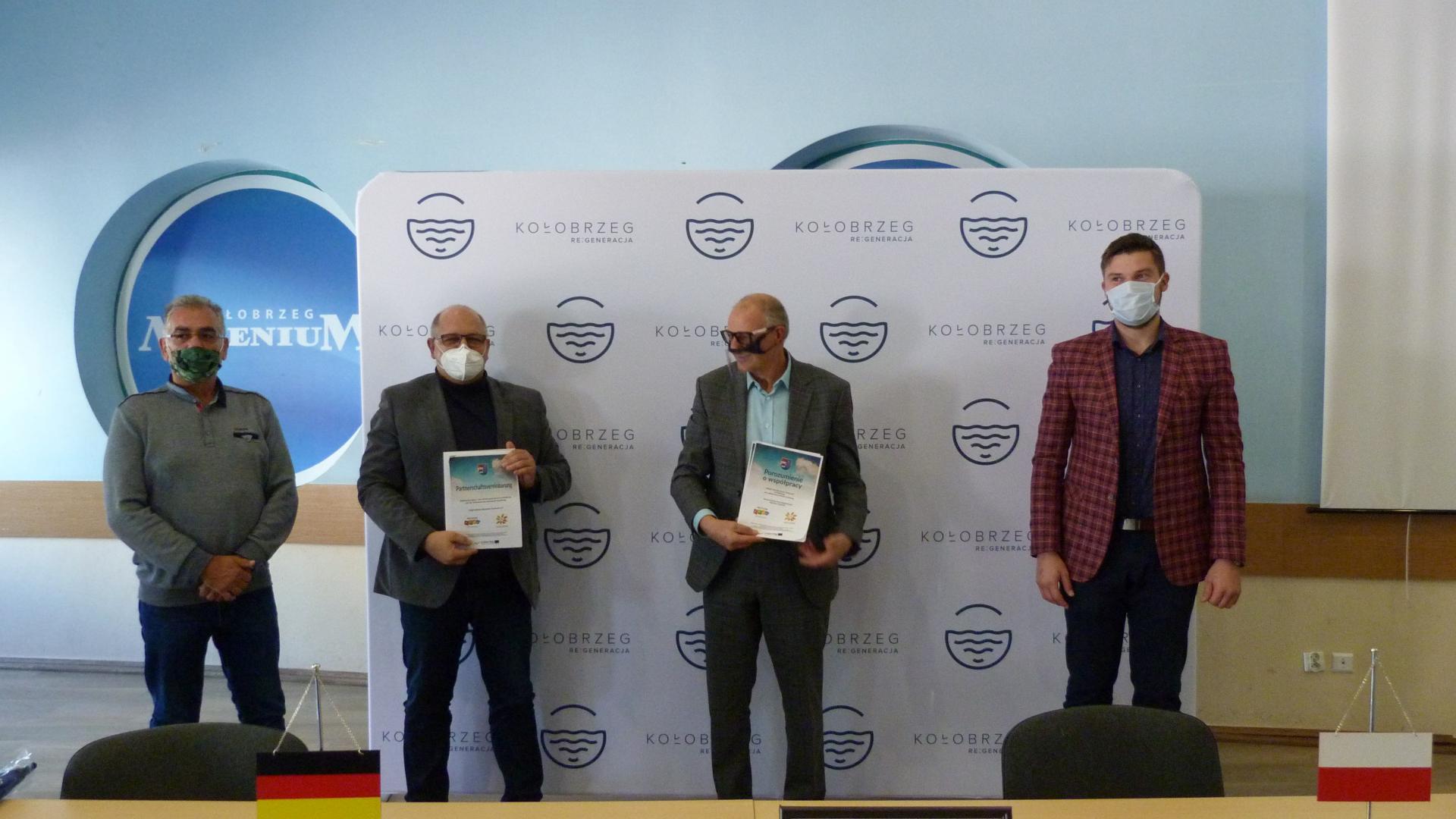 Unterzeichnung der Kooperationsvereinbarung in Kołobrzeg