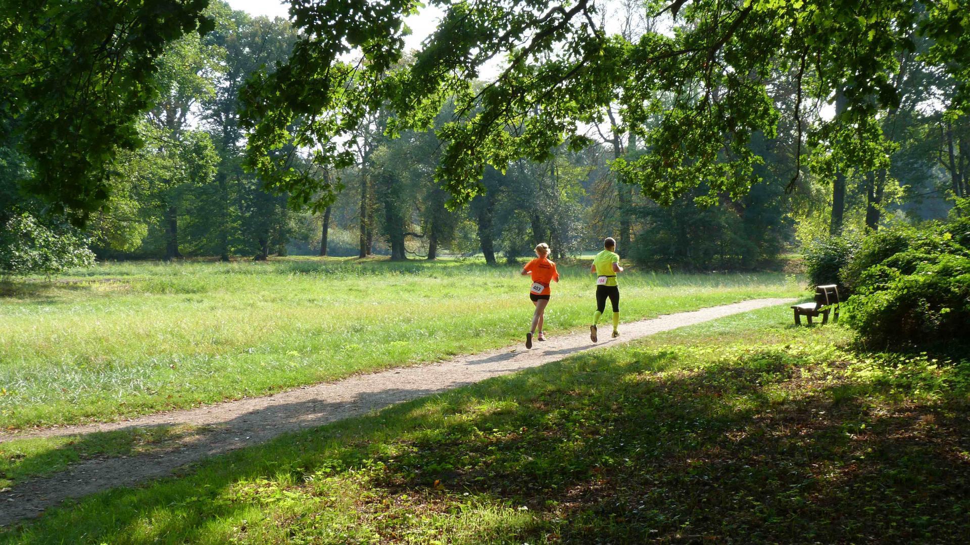 Laufende im Park