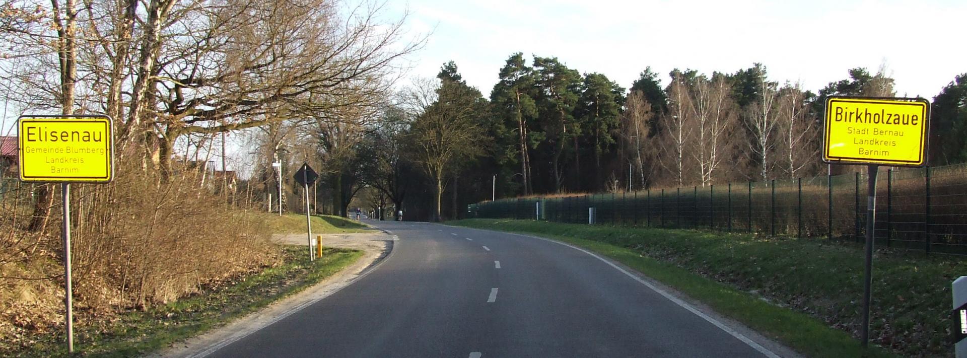 Elisenau Ortseingang
