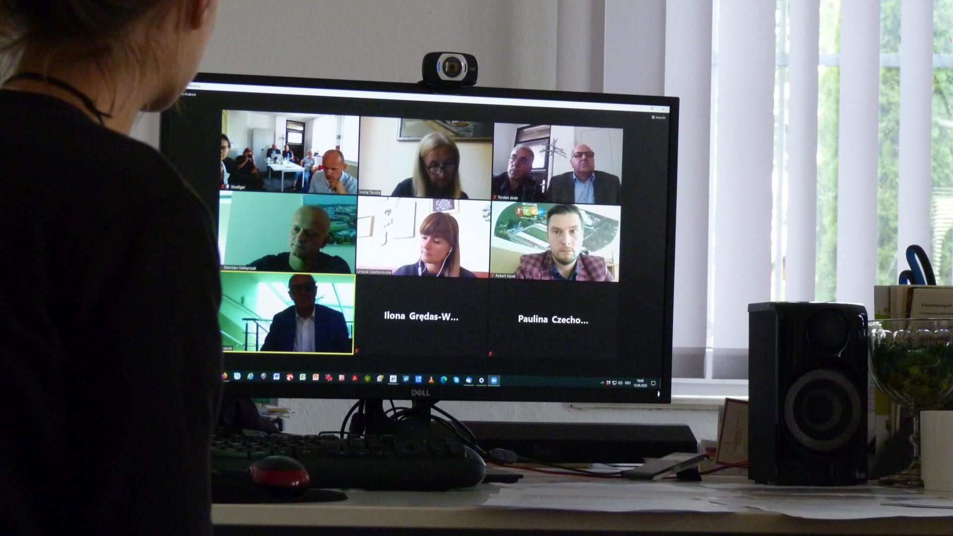 Polnisch-Deutsche Videokonferenz