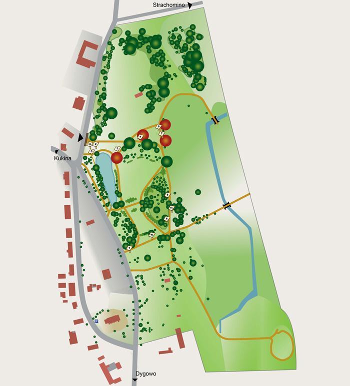 Der Park Rusowo heute – Lageplan