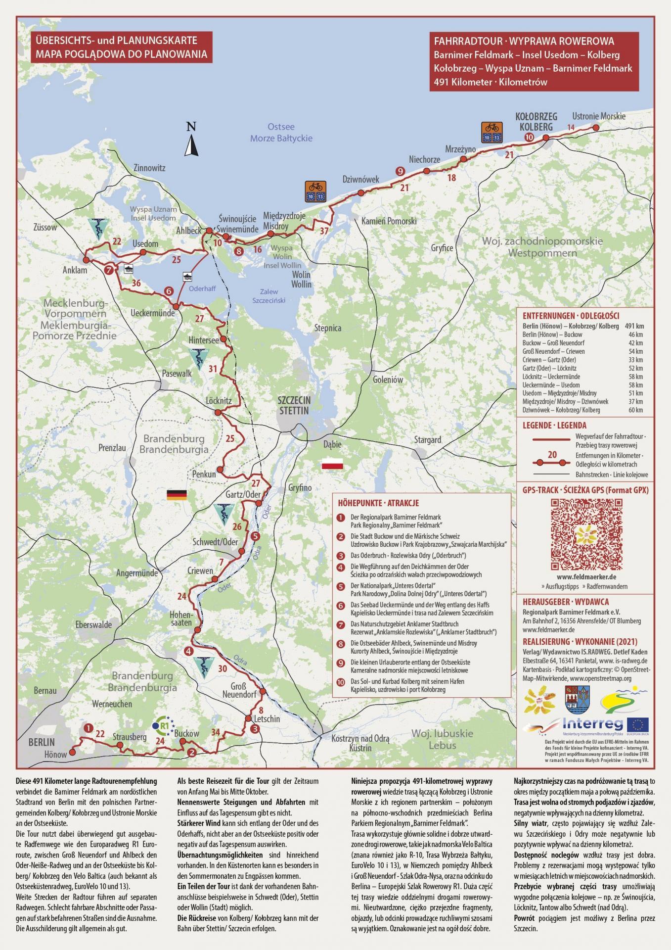 Länderübergreifende Radtour via Insel Usedom